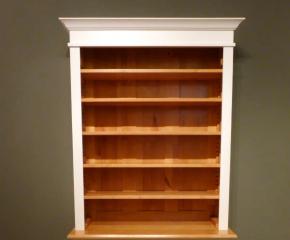 Regalsystem holz mit türen  Bücherregal mit Türen Massivholz Regal mit geschlossen Unterbau ...
