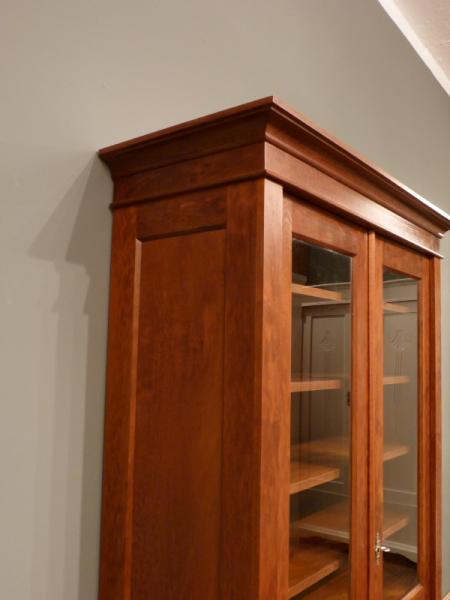 Bücherschrank Massivholz 2 Glastüren Zweitüriger Bücherschrank ...