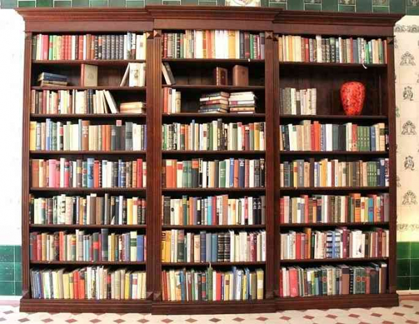 pin bild regal b cherregal im landhausstil massivholz wei. Black Bedroom Furniture Sets. Home Design Ideas
