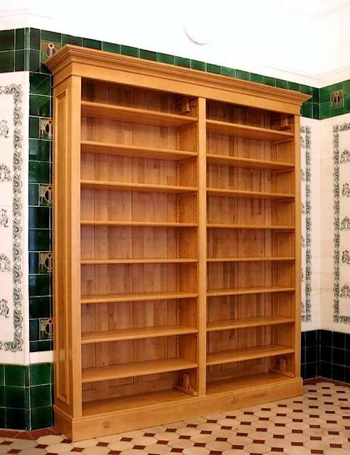 b cherregal massiv aus holz erle naturton b cherregal. Black Bedroom Furniture Sets. Home Design Ideas