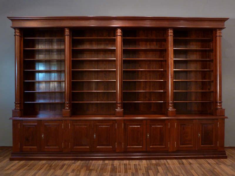 regalwand antike regale historische regale monumentale regalwand erle im klassischen stil. Black Bedroom Furniture Sets. Home Design Ideas
