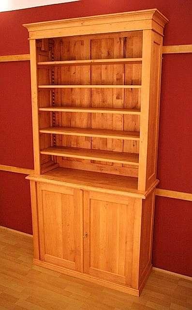 Regalsystem holz mit türen  Bücherregal mit Türen Massivholz Regal mit Türen massiv Holz ...