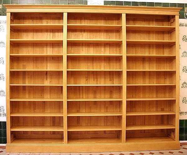 Holz bücherregal  Bücherregal massiv Holz im Naturton Bücherregal DREIER14 massiv ...