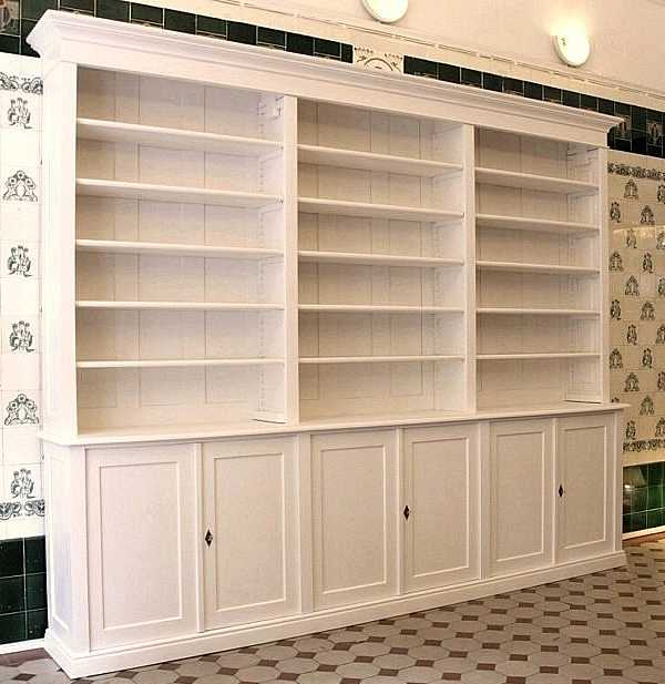 b cherwand in wei mit 6 t rigem schrank b cherregal dreier15 wei mit t ren massivholz regale. Black Bedroom Furniture Sets. Home Design Ideas