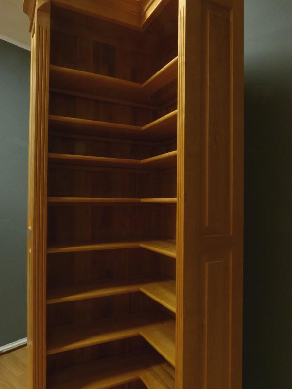 eckregal aus massivholz erle im naturton eckregal. Black Bedroom Furniture Sets. Home Design Ideas