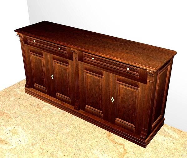 kommode aus massivholz mit t ren und schubladen anrichte mit 4 t ren und 2schubladen massivholz. Black Bedroom Furniture Sets. Home Design Ideas