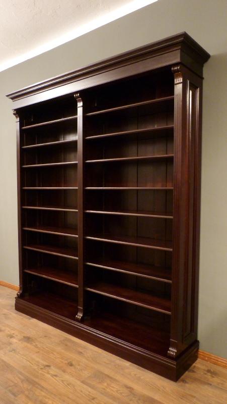 regal massiv holz erle nussbaumton b cherregal erle. Black Bedroom Furniture Sets. Home Design Ideas