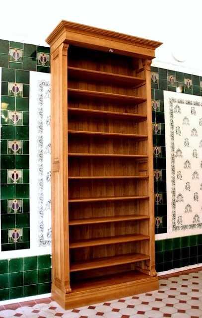 regal mit beleuchtung eiche massiv b cherregal eiche gr nderzeitstil einer18 massivholz regale. Black Bedroom Furniture Sets. Home Design Ideas