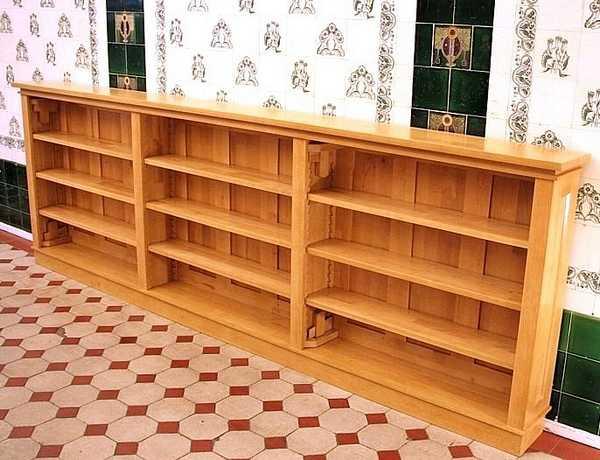niedriges regal aus massivholz 3 meter breite regal dreier19 massiv erle naturton massivholz. Black Bedroom Furniture Sets. Home Design Ideas