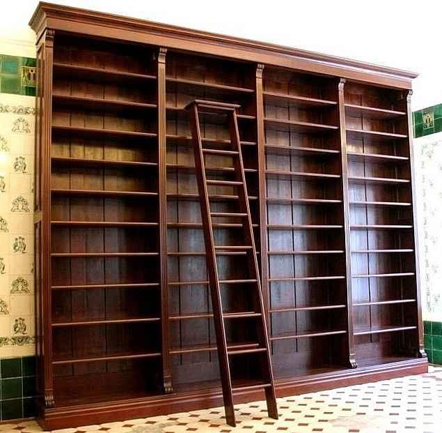 regalwand mit leiter aus massivholz regalwand massiv gr nderzeitstil wand5 massivholz regale berlin. Black Bedroom Furniture Sets. Home Design Ideas